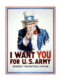 I Want You for the U.S. Army Arte sobre metal por Flagg, James Montgomery