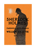 William Gillette as Sherlock Holmes: Farewell Appearance Metal Print