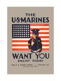 The U.S. Marines Want You Metal Print