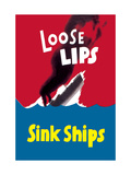 Loose Lips Sink Ships Metal Print