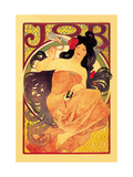 Job Metal Print by Alphonse Mucha