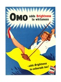 Omo, Washing Powder Products Detergent, UK, 1950 Metal Print