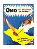 Omo, Washing Powder Products Detergent, UK, 1950 Metal Print