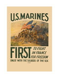 U.S. Marines, First to Fight in France for Freedom Metal Print