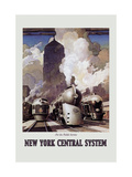 New York Central System Metal Print by Leslie Ragan