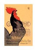Cocorico, c.1899 Art sur aluminium par Théophile Alexandre Steinlen