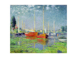 Argenteuil, circa 1872-5 Metal Print by Claude Monet