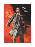 Lenin Lived, Lenin is Alive, Lenin Will Live Metal Print by Victor Ivanov
