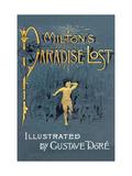 Cover van Paradise Lost van John Milton met de illustraties van Gustave Doré Kunst op metaal van Gustave Doré