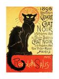 Reopening of the Chat Noir Cabaret, 1896 Reproduction sur métal par Théophile Alexandre Steinlen