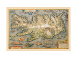 Map of Iceland Metal Print by Abraham Ortelius