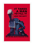It Takes a Man to Fill It Metal Print by Charles Stafford Duncan
