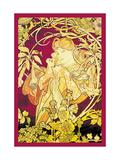 Efeu Alu-Dibond von Alphonse Mucha