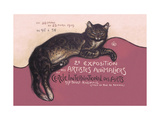 Exposition des Artistes Animaliers Metal Print by Théophile Alexandre Steinlen