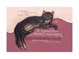 Exposition des Artistes Animaliers Metal Print by Théophile Alexandre Steinlen