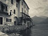 Lombardy, Lakes Region, Lake Como, Santa Maria Rezzonico, Lakeside Houses, Italy Metal Print by Walter Bibikow