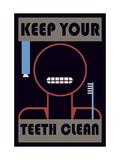 Keep Your Teeth Clean Metal Print