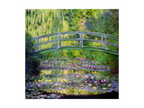 The Waterlily Pond with the Japanese Bridge, 1899 Metal Print by Claude Monet
