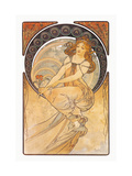 Painting Metal Print by Alphonse Mucha