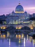 St. Peter's Basilica, Rome, Italy Metal Print by Walter Bibikow