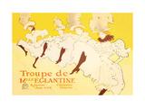 Troupe de Mille Eglantine Metal Print by Henri de Toulouse-Lautrec