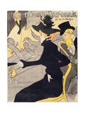 """Poster Advertising """"Le Divan Japonais"""", 1892 Metalldrucke von Henri de Toulouse-Lautrec"""