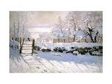 Die Elster, 1869 Alu-Dibond von Claude Monet