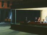 Nachtfalken Kunst auf Metall von Edward Hopper