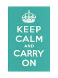 Keep Calm and Carry On Metal Print
