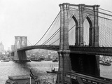 Brooklyn Bridge, New York Metal Print