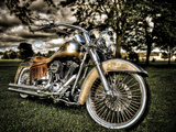 Harley Metalldrucke von Stephen Arens