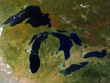 Great Lakes in North America Metal Print