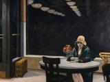 Cafetaria Kunst op metaal van Edward Hopper