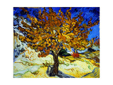 Mulberry Tree, c.1889 Metal Print by Vincent van Gogh