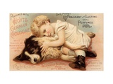 Hoytes Cologne, Dogs, Womens, USA, 1890 Metal Print