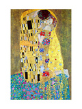 El beso Lámina en metal por Gustav Klimt