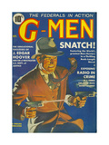 G-Men, FBI Detectives Pulp Fiction Magazine, USA, 1935 Metal Print