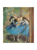 Dancers in Blue, c.1895 Metal Print by Edgar Degas