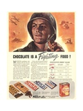 Nestle's, Propaganda Chocolate Sweets WWII Chocolate Is a Fighting Food, USA, 1940 Metal Print