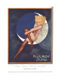Blue Moon Silk stockings, Womens Glamour Pin-Ups Nylons Hosiery, USA, 1920 Metalldrucke