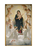 The Virgin with Angels, 1900 Metal Print by William Adolphe Bouguereau
