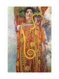 Hygeia Lámina en metal por Gustav Klimt