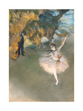 The Star, or Dancer on the Stage, circa 1876-77 Metal Print by Edgar Degas