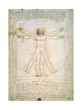 Vitruvian Man, c.1492 Metal Print by  Leonardo da Vinci