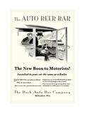The Auto Beer Bar Metal Print by  Tousey