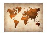 World  Map 7 Metal Print by  NaxArt