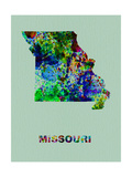 Missouri Color Splatter Map Metal Print by  NaxArt