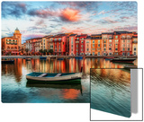 The Bay at Portofino Stampa su metallo di Trey Ratcliff