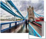 Crossing Tower Bridge in the Rain Metal Print by Trey Ratcliff