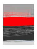 Abstract Stripe Theme Red Metalldrucke von  NaxArt